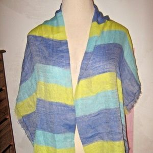 LOT OF TWO Lime Green + Pashmina & Fleece Scarves